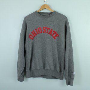 champion ohio state crewneck fleece sweatshirt